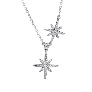 Louilyjewelry Sterling Silver Fashion Star Design Necklace