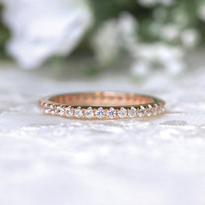 Louilyjewelry Sterling Silver Classic Full Eternity Women's Wedding Band