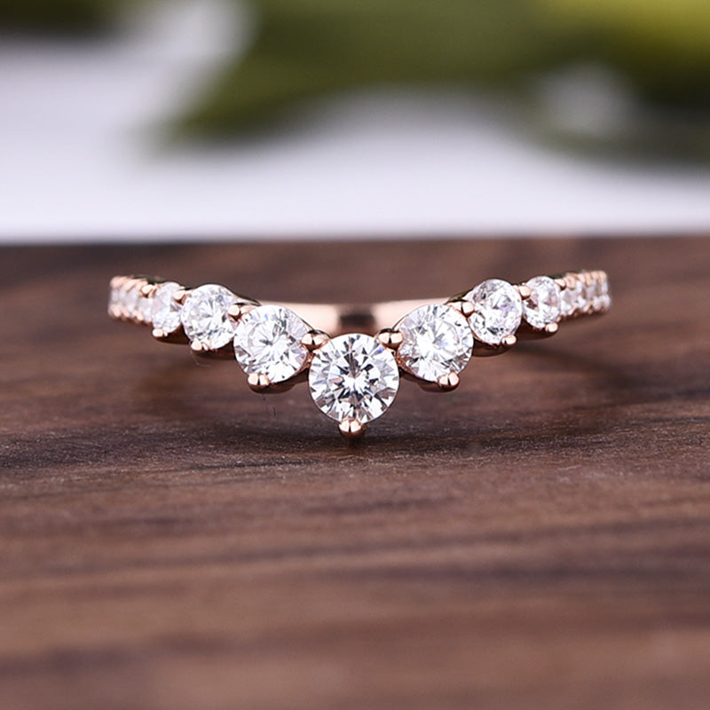 Louily Rose Gold Unique Design Halo Oval Cut Wedding Set In Sterling Silver