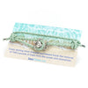 Sterling Silver Peanut Bracelet (Sea Foam Green)
