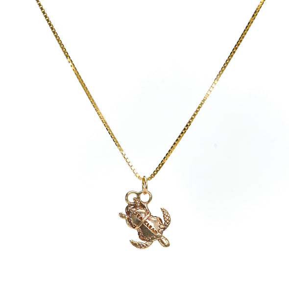 Peanut Necklace in 10k Yellow Gold with chain