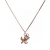 Peanut Necklace in 10k Rose Gold with chain