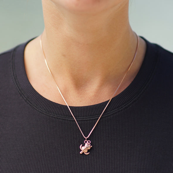 Peanut Necklace in 10k Rose Gold