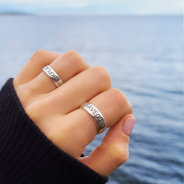 #Saveourseas Ring (Sterling silver)