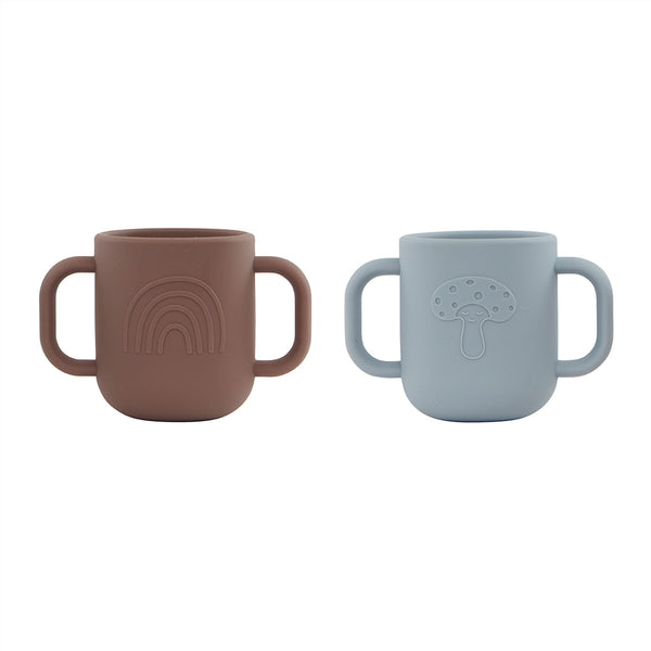 OYOY Living Design - OYOY MINI Kappu Cup - Pack of 2 Dining Ware 608 Dusty Blue / Choko