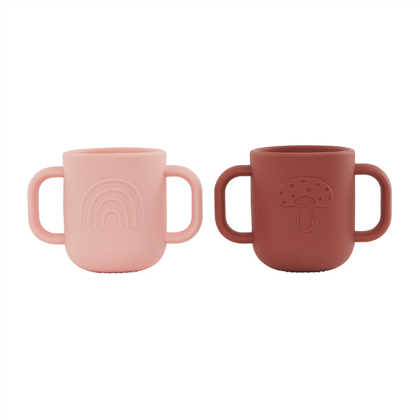 OYOY Living Design - OYOY MINI Kappu Cup - Pack of 2 Dining Ware 408 Coral / Nutmeg
