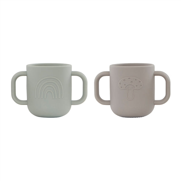 OYOY Living Design - OYOY MINI Kappu Cup - Pack of 2 Dining Ware 306 Clay / Pale Mint