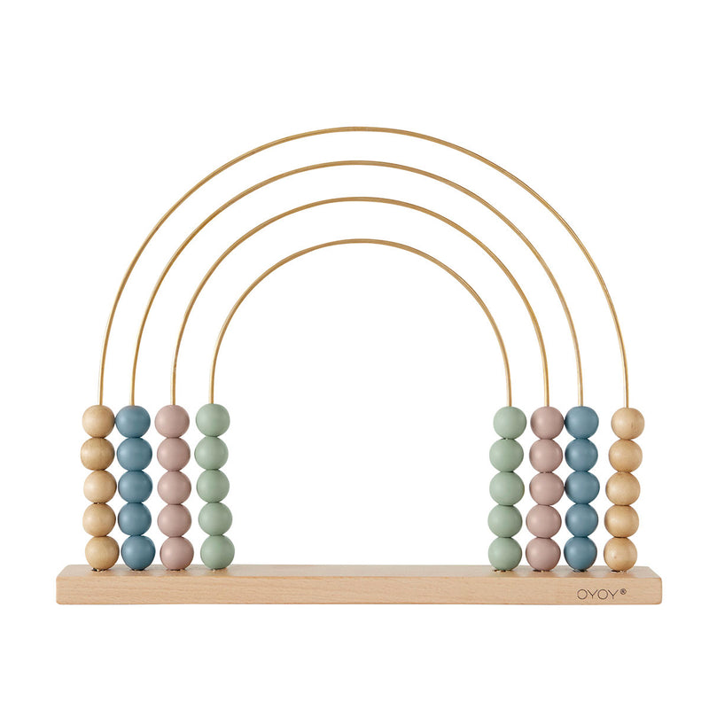OYOY Living Design - OYOY MINI Abacus Rainbow Wooden Toy 901 Nature