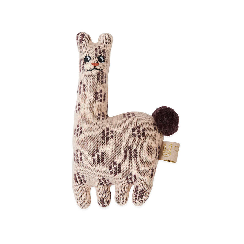 OYOY Living Design - OYOY MINI Baby Rattle - Lama Soft Toys 402 Rose