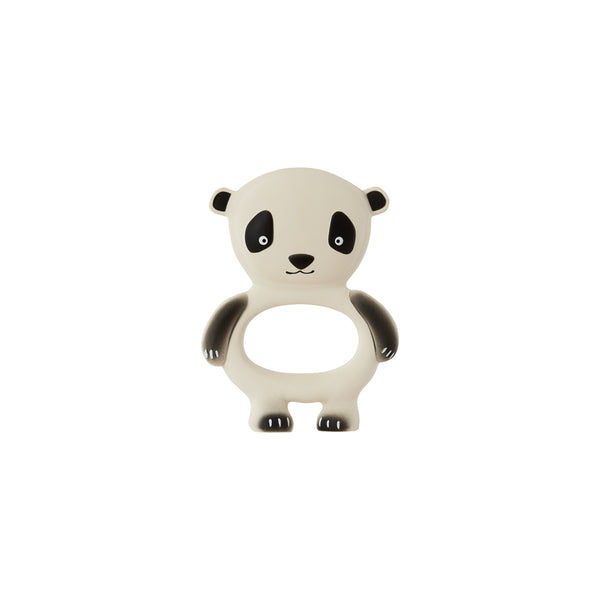 OYOY Living Design - OYOY MINI Panda Baby Teether Rubber Toy 102 Offwhite / Black