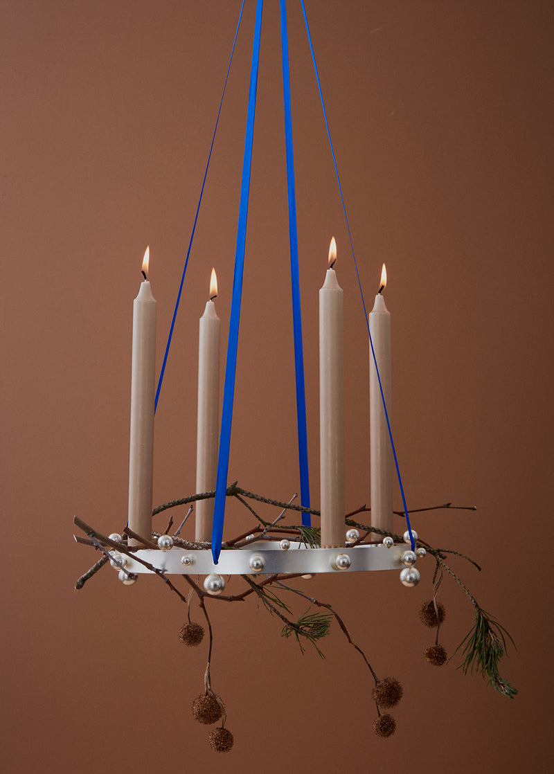 OYOY Living Design - OYOY LIVING Candleholder Pearl Advent Candleholder 905 Silver