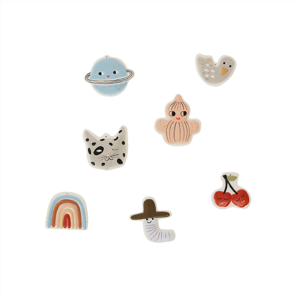 OYOY Living Design - OYOY MINI Ceramic Figures - pack of 7 Decoration 908 Multi