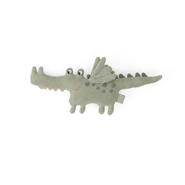 OYOY Living Design - OYOY MINI Darling Rattle - Baby Buddy Crocodile Soft Toys 701 Green
