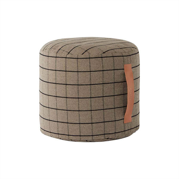 OYOY Living Design - OYOY LIVING Grid Pouf Pouf 306 Clay