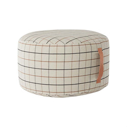 OYOY Living Design - OYOY LIVING Grid Pouf Large Pouf 102 Offwhite