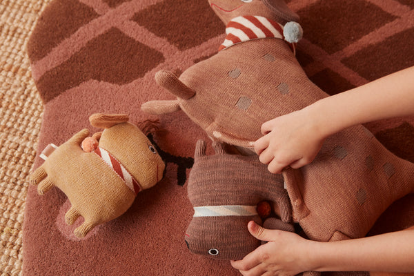 OYOY Living Design - OYOY MINI Hunsi Dog with two puppies Coco & Max Soft Toys 908 Multi