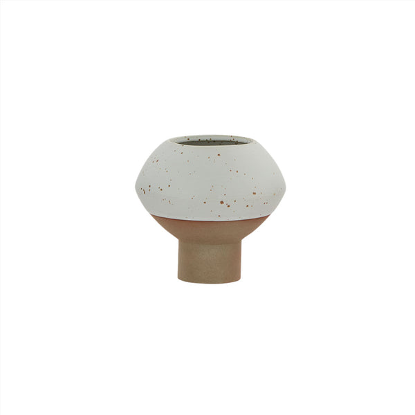 OYOY Living Design - OYOY LIVING Vase Hagi Mini Vase 101 White / Light Brown