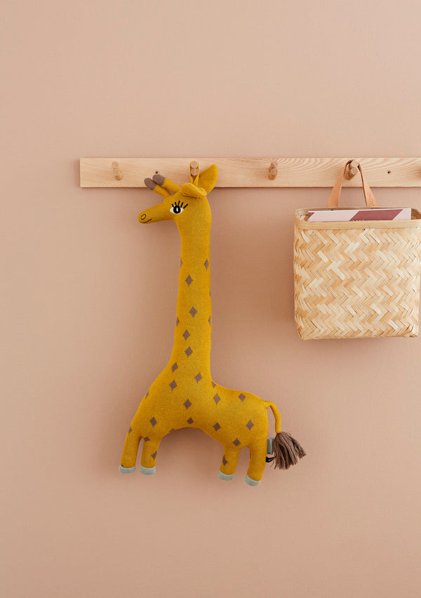 OYOY Living Design - OYOY MINI Noah Giraffe Cushion Soft Toys 804 Curry