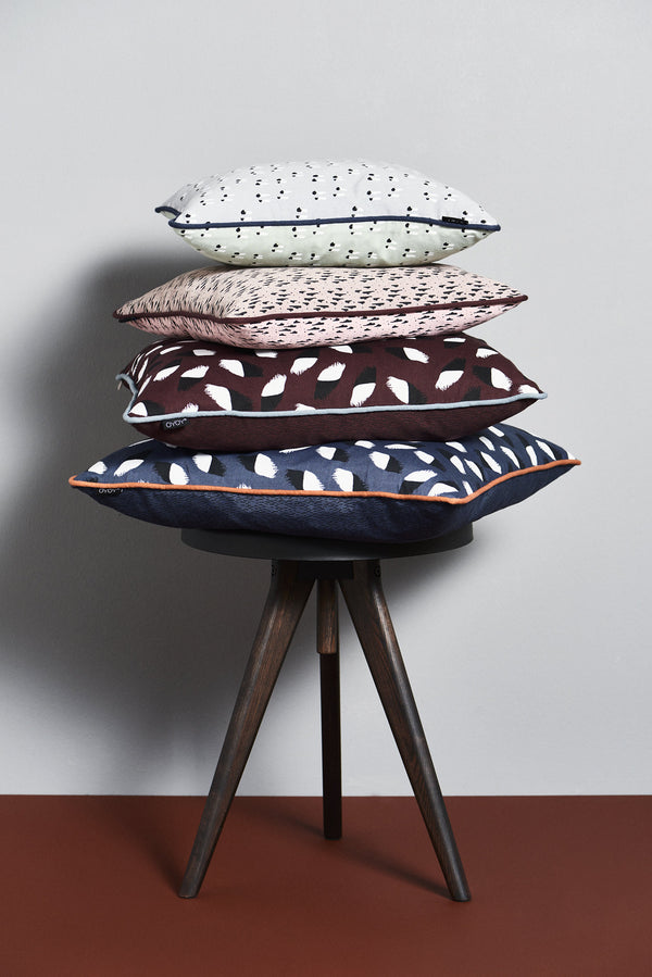 OYOY Living Design - OYOY LIVING Paint Cushion Cushion 407 Bordeaux