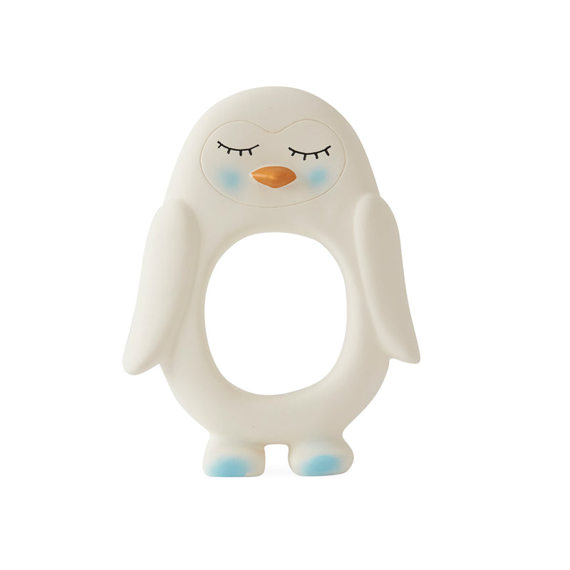 OYOY Living Design - OYOY MINI Penguin Baby Teether Rubber Toy 101 White