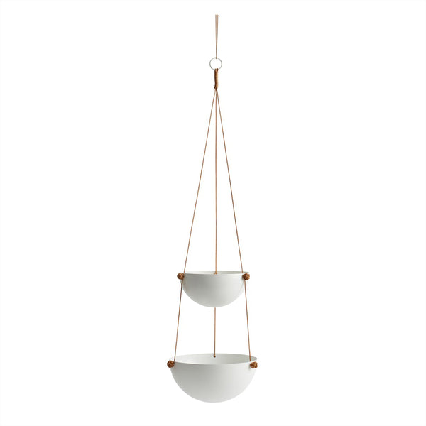 OYOY Living Design - OYOY LIVING Pif Paf Puf Hanging Storage - 2 Bowls Storage 101 White