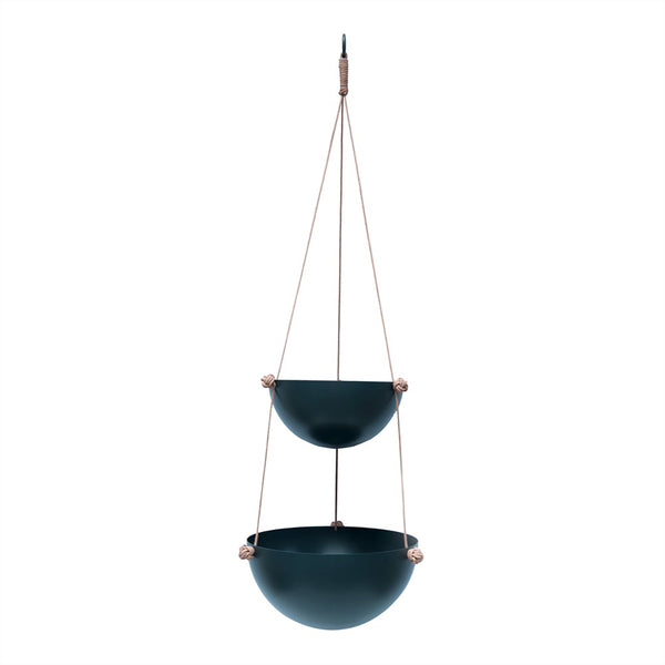 OYOY Living Design - OYOY LIVING Pif Paf Puf Hanging Storage - 2 Bowls Storage 204 Dark Grey