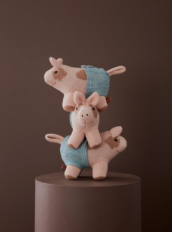 OYOY Living Design - OYOY MINI Pig Mini Hugo Soft Toys 402 Rose