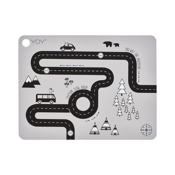 OYOY Living Design - OYOY MINI Placemat Adventure Placemat 202 Light Grey