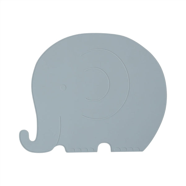 OYOY Living Design - OYOY MINI Placemat Henry Elefant Placemat 603 Pale Blue