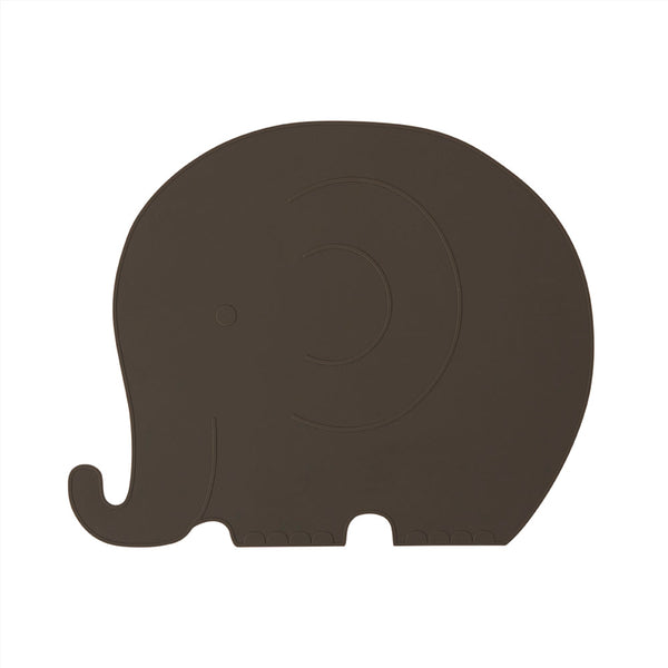 OYOY Living Design - OYOY MINI Placemat Henry Elefant Placemat 309 Choko