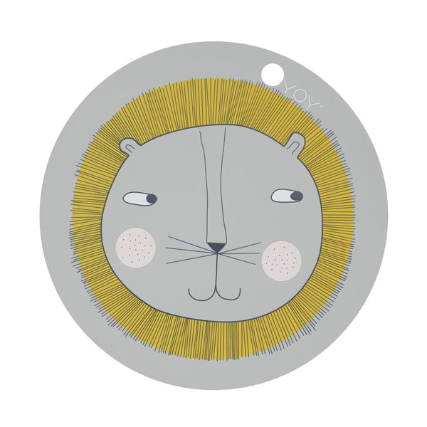 OYOY Living Design - OYOY MINI Placemat Lion Placemat 202 Light Grey