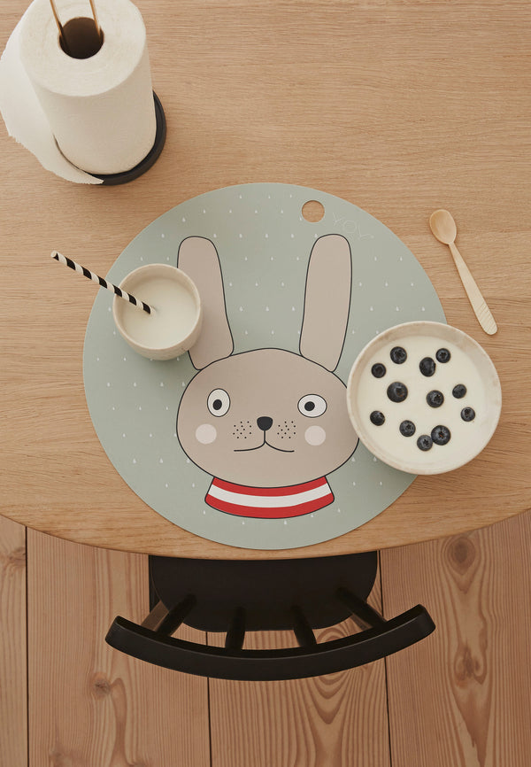 OYOY Living Design - OYOY MINI Placemat Rabbit Placemat 705 Minty