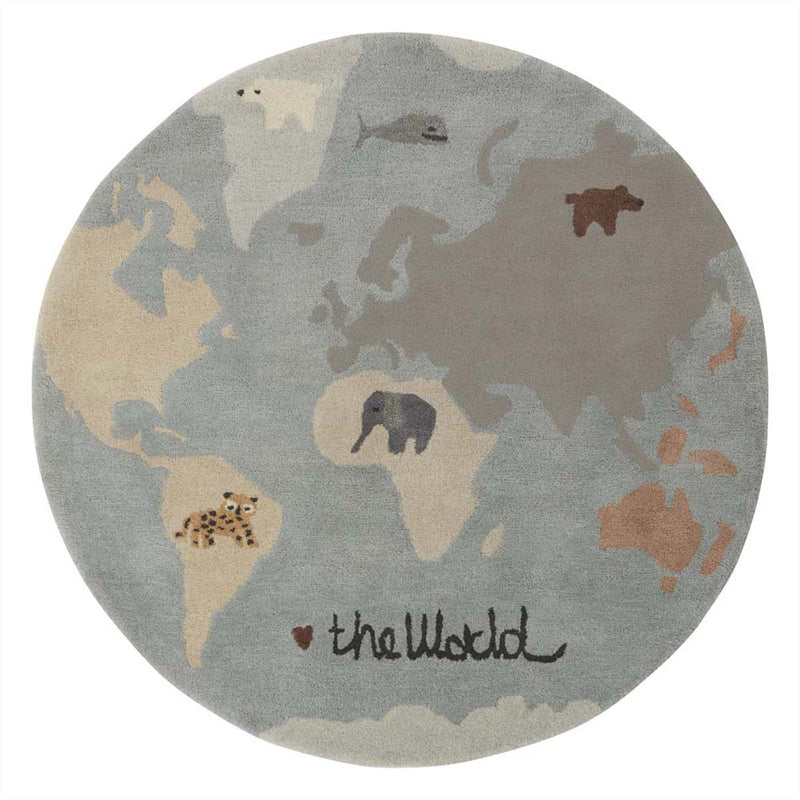 OYOY Living Design - OYOY MINI The World Tufted Rug Rug 908 Multi