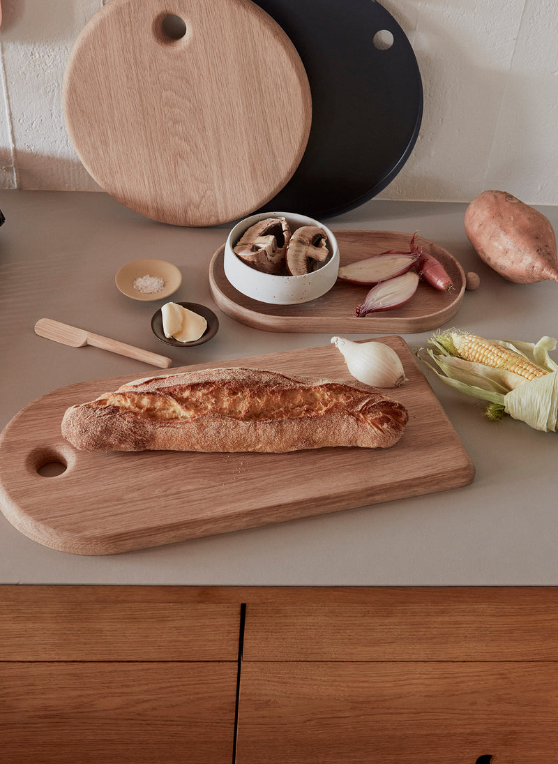 OYOY Living Design - OYOY LIVING Yumi Cutting Board, Round Kitchen accessories 901 Nature