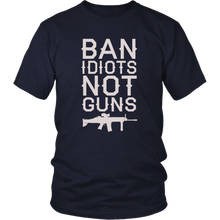 Load image into Gallery viewer, Ban Idiots Not Guns Men's T-shirt --Limited Edition
