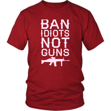 Load image into Gallery viewer, Ban Idiots Not Guns Women's T-shirt --Limited Edition
