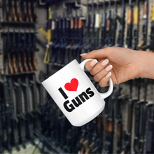 Load image into Gallery viewer, I heart Guns 15 oz Coffee Mug -- LIMITED EDITION