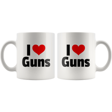 Load image into Gallery viewer, I Heart Guns 11 oz Coffee Mug --LIMITED EDITION