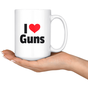 I Heart Guns 15 oz Mug -- Limited Edition