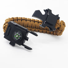 Load image into Gallery viewer, Survival Paracord Bracelet with LED light