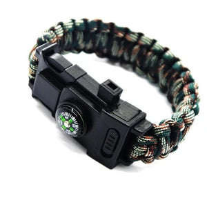 Survival Paracord Bracelet with LED light