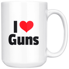Load image into Gallery viewer, I Heart Guns 15 oz Mug -- Limited Edition