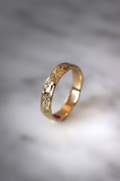 Textured wedding band, unisex ring - Eden Garden Jewelry™