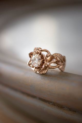 1 ct lab diamond flower engagement ring / Rosalia - Eden Garden Jewelry