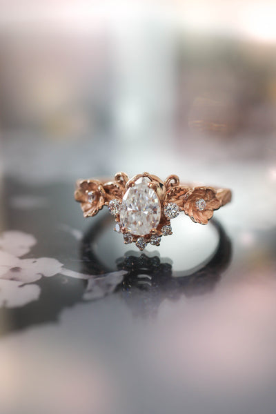 Moissanite engagement ring / Adelina - Eden Garden Jewelry