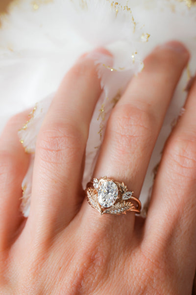 Oval moissanite engagement ring / Adonis - Eden Garden Jewelry