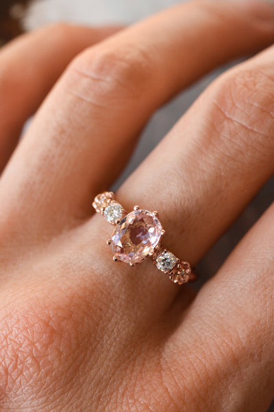Oval morganite engagement ring - Eden Garden Jewelry™