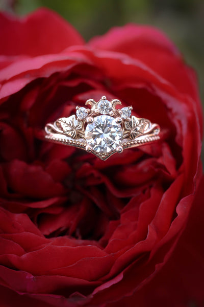 0.5 ct diamonds engagement ring / Ariadne - Eden Garden Jewelry