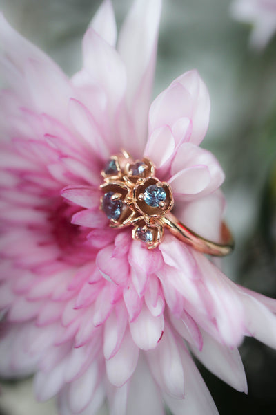 Lily of the valley ring with alexandrite - Eden Garden Jewelry™