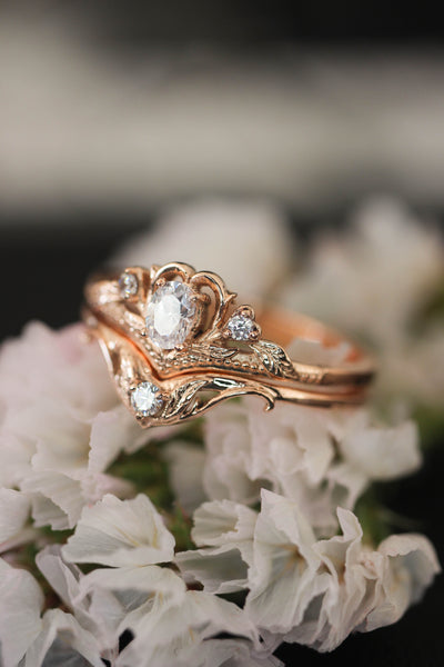 Moissanite engagement ring / Amura - Eden Garden Jewelry™